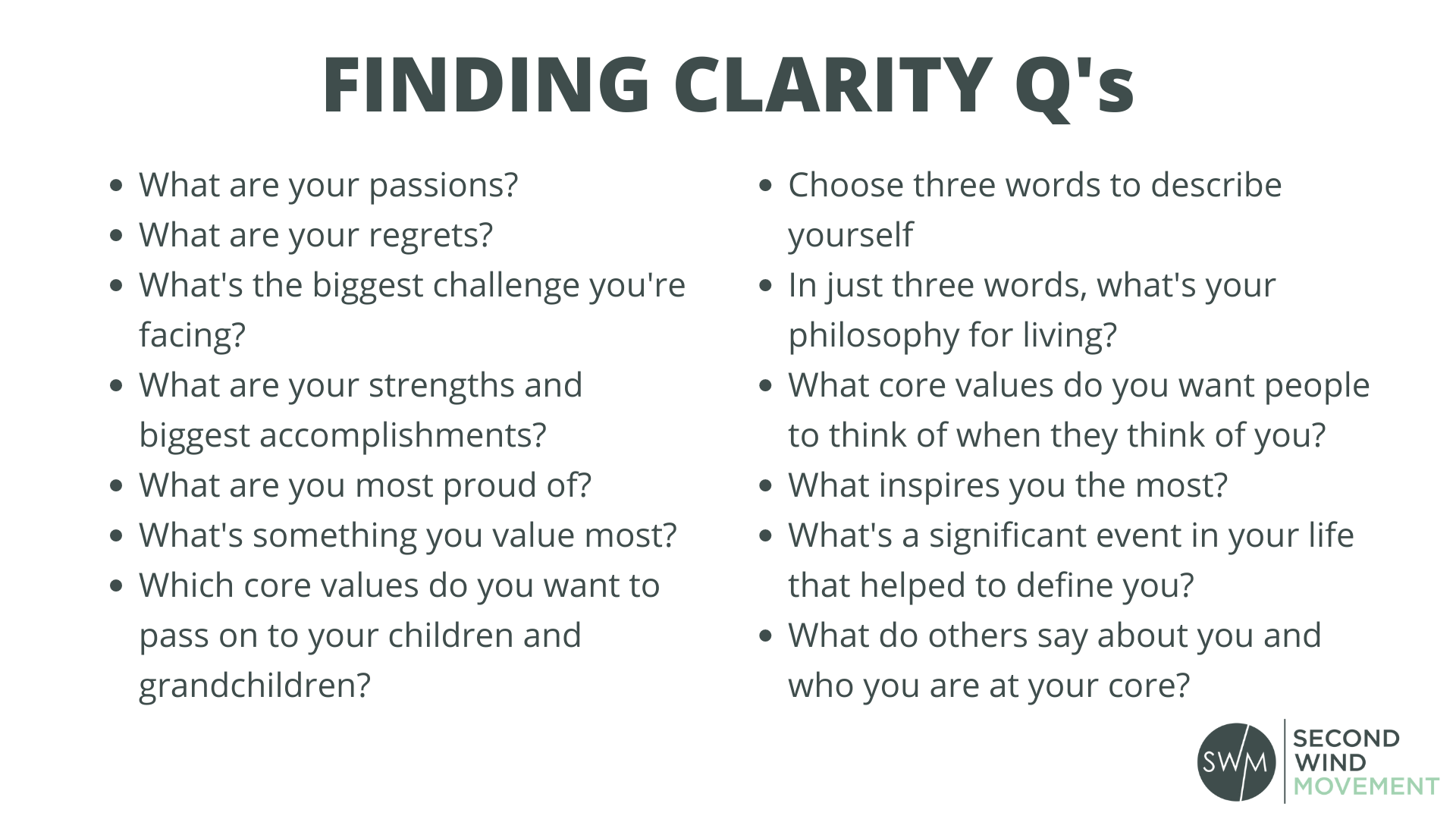 questions to help you find clarity