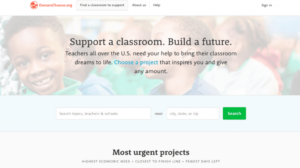 DonorsChoose website