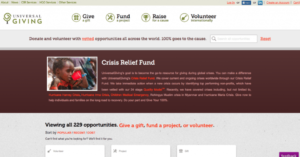 UniversalGiving website