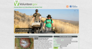 Volunteer.gov website