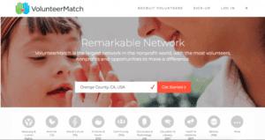 VolunteerMatch website