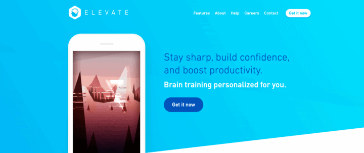 Elevate app for personalized brain training