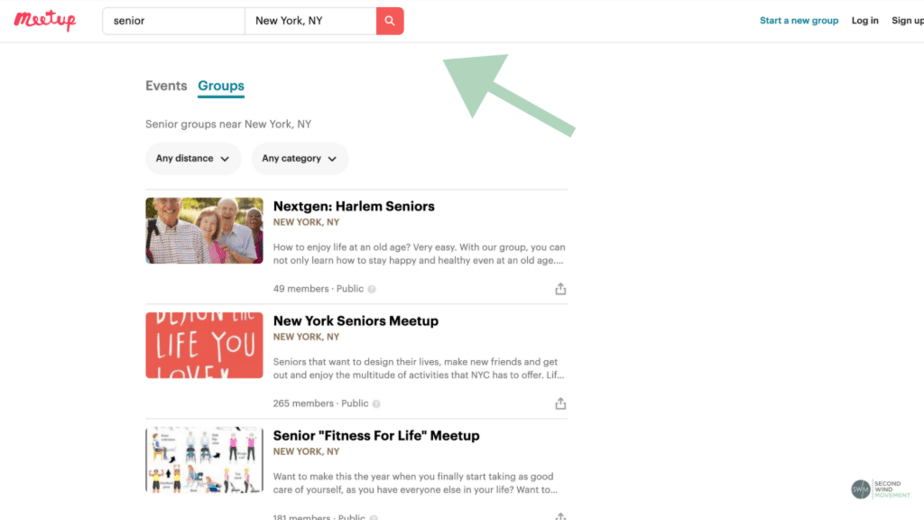 How to search for events or groups on Meetup