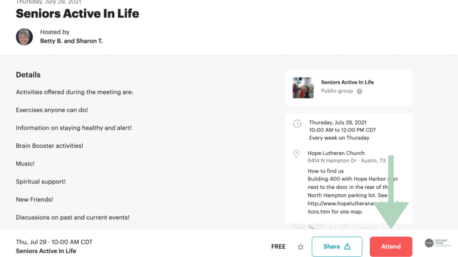 How to RSVP to an event on Meetup