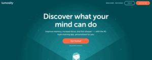 lumosity brain training app website screenshot