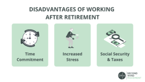 disadvantages of working after retirement