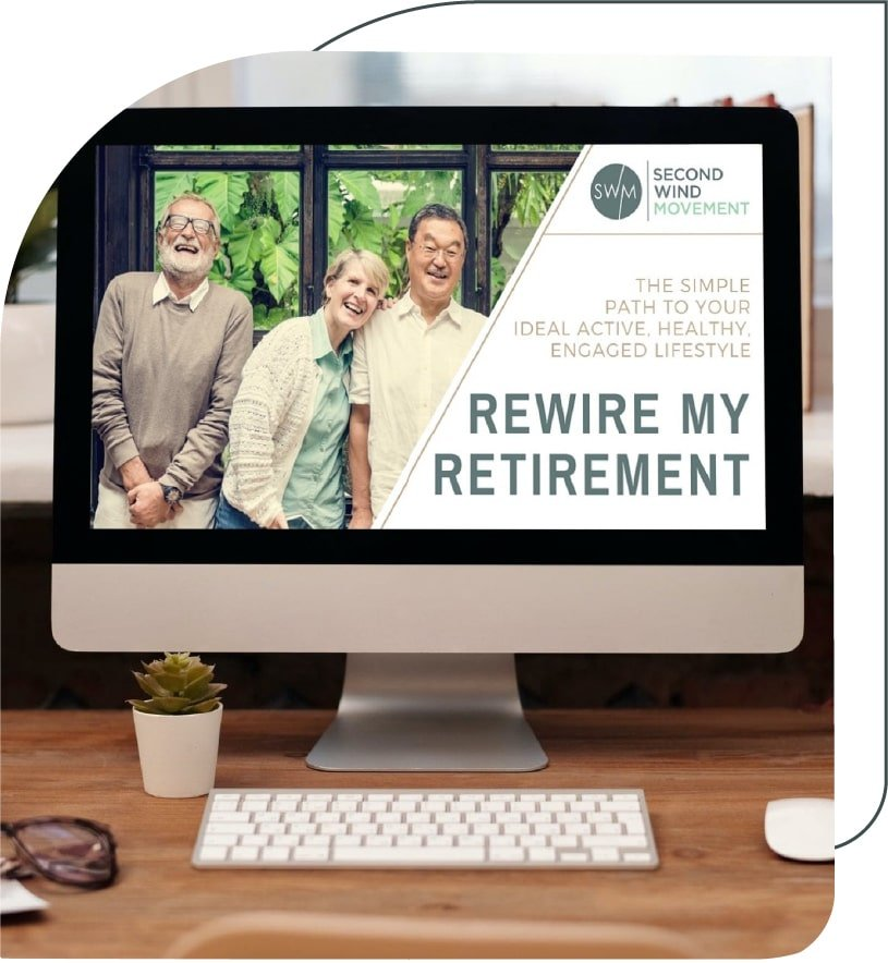 the rewire my retirement program opened on a computer